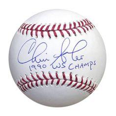 """Chris Sabo Autographed MLB Baseball Inscribed """"""""1990 WS Champs"""""""""""