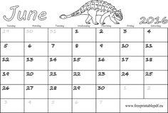 June 2016 Calendar For Kids