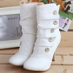 Gorgeou High Heel Boot With Button -  http://bit.ly/1FPo1Pj