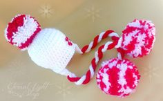 ALL SIZES Peppermint Beanie by EternalLightShop on Etsy, $25.00