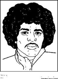 jimi hendrix coloring pages black history month