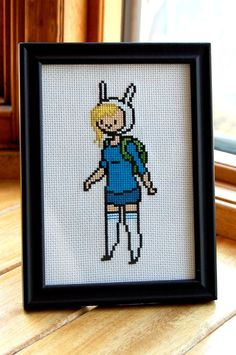Adventure Time  Fionna  Cross Stitch by WistfulBird on Etsy, $35.00