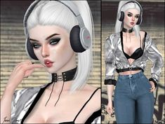 City Nights Headphones females and males Sims 4 Male Clothes, Sims 4 Clothing, Sims 4 Anime, The Sims 4 Cabelos, The Sims 4 Packs, Cute Headphones, Sims 4 Children, Sims 4 Clutter, Sims 4 Gameplay
