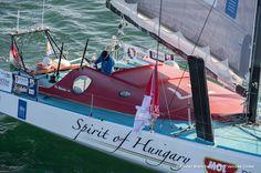 Skipper Nandor Fa Sailing aerial images of the IMOCA boat Spirit of Hungary, skipper Nandor Fa (HUN), during training solo for the Vendee Globe, off Les Sables d'Olonne, on October 27, 2016 - Photo Olivier Blanchet / DPPI / Vendée GlobeImages aériennes de Spirit of Hunga