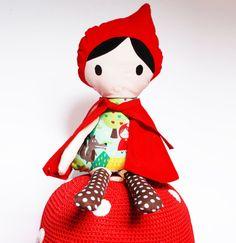 Doll handmade Red riding hood van wildthingsdresses op Etsy, £32.00