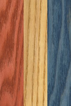 Add some patriotic pep to your next project with Minwax® Express Color™. Colors from left: Crimson, Oak, Indigo. Wood Stain Colors Minwax, Paint Stain, Paint Finishes, Indigo Colour, Indigo Dye, Modern Colonial, Stained Table, Oak Table, Wood Projects