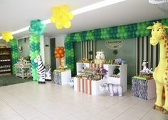 Safari Party Decorations | party,safari birthday,safari theme birthday party,safari,baby safari ...
