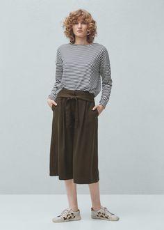 Soft-fabric palazzo trousers | MANGO