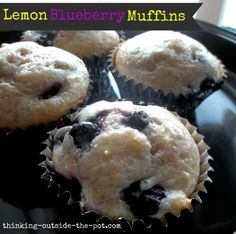 Lemon Blueberry Muffins. Great for any quick breakfast, brunch or snack.
