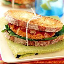 Chicken parmigiana toasted sandwiches