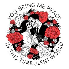 You bring me peace in this turbulent world cloth napkin - rose style gifts diy customize special roses flowers Fu Dog, Skeleton Art, My Sun And Stars, Dope Art, Future Tattoos, Art Plastique, Skull Art, Crane, Artsy Fartsy