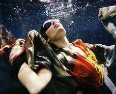 """Gravity"" Underwater fashion photography ©peter de mulder"
