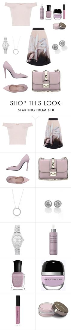 """""""🕊"""" by luxury-naznaz ❤ liked on Polyvore featuring Ermanno Scervino, Valentino, Rolex, Living Proof, Deborah Lippmann, Marc Jacobs and Anastasia Beverly Hills"""