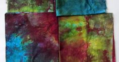 Creations - Quilts, Art, Whatever by Nina-Marie Sayre: Easy-Peasy Red Solo Cup Fabric Hand Dyeing Tutorial