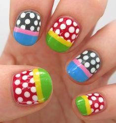 Polka dots and easy French Nail tips
