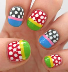 Polka dots and easy French Nail tips