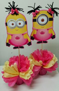 girl minion baby shower