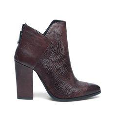 8acbc55fa6d Suede laarzen met blokhak donkerrood | BOTTINES, we love it(L ...