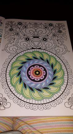 Desenho colorido pela leitora Ana Wolf Pereira | Livros de #Colorir #Arte-terapia