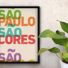 Feliz Aniversário SP.  - O pôster 'São Cores' é uma homenagem a São Paulo. Suas misturas sua arte sua arquitetura e suas cores. Cidade linda não é cidade cinza.  - #nacasadajoana #abaixoasparedesvazias #decoração #meunacasadajoana #sãopaulo #cidadecinza #culturanãoseapaga #cool #menoscinzamaisarte #sampa #pôster #posters #sp #pinterest #maiscorporfavor #arcosdojanio #sãopaulosãocores #cores #alatacairevidar #saopaulo463