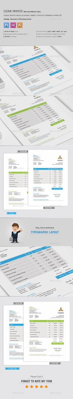 sales invoice template with blue theme | invoice templates, Invoice examples