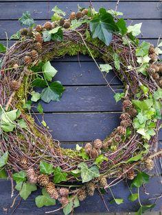 Christmas Deco, Christmas Wreaths, Dreams Catcher, Mabon, Grapevine Wreath, Grape Vines, Fall Decor, Smuk, Flowers