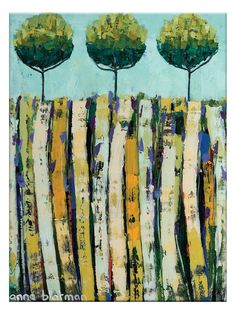 Summer Trees by Anna Blatman (Canvas) by Artist Lane at Gilt