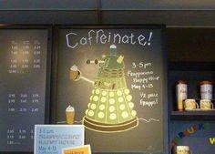 Daleks Like Coffee Too!
