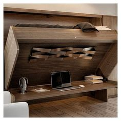 Lit escamotable avec bureau int gr sous sol pinterest for Lit escamotable costco