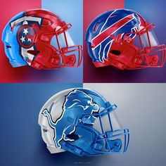 We love these helmets designs created by . New Nfl Helmets, Football Helmet Design, College Football Helmets, Bills Football, Football Uniforms, Nfl Football Teams, Football Memes, Football And Basketball, Football Pics