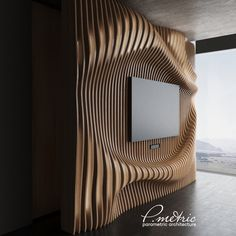 metric Walls Decor - P.metric Walls Decor on Behance - Wooden Wall Panels, Wooden Wall Art, Wood Art, Tv Wall Decor, Wall Decor Design, 3d Cnc, Futuristic Furniture, Wall Cladding, Textured Walls