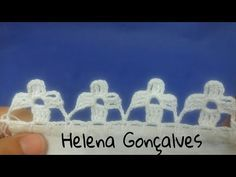 Bico de crochê carreira única flores #206 - YouTube