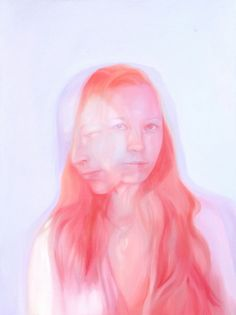 """Bubblegum is the first word that came to mind when I look upon the series """"Strange Beauties"""" by Jen Mann. These beautiful portrait paintings are indeed coloured Harding Meyer, Cinema, Portraits, Gcse Art, Canadian Artists, Jena, Double Exposure, Figurative Art, Painting & Drawing"""