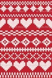Fair Isle Knitting Chart with Deer, Snowflake and Pine Trees #crafts #needlew...