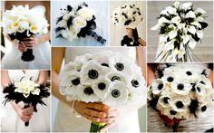 bouquet bianco e nero