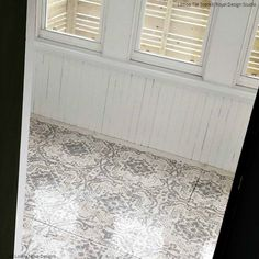 Don't Refinish or Remodel! Paint Your Hardwood Floors with Stencils - 11 Wood Floor Makeover Ideas using Royal Design Studio Floor Stencils Painted Hardwood Floors, Types Of Wood Flooring, Hardwood Floor Colors, Oak Laminate Flooring, Light Hardwood Floors, Diy Flooring, Stone Flooring, Flooring Ideas, Stencil Wood