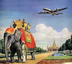 vintage 1947 advertisement airlines bombay india by FrenchFrouFrou, $12.95