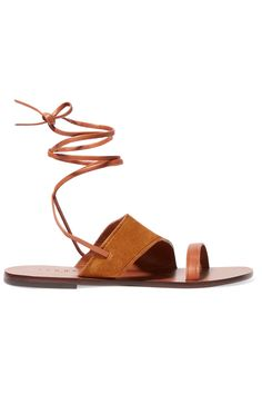Sandro Leather and Suede Sandals on ShopStyle