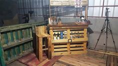 Pallet Bar and Chair