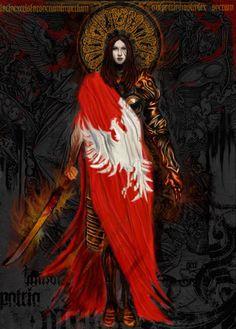 Fatherland by alkemik on DeviantArt Character Inspiration, Character Art, Character Design, Polish Tattoos, Poland History, Templer, High Fantasy, Fantastic Art, Heart Art