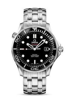 The current Omega Seamaster Diver 300 wristwatch does not resemble the old style vintage Seamaster dive watches first released way back in 1948 - it is similar in name only. Omega Seamaster James Bond, Omega Seamaster Diver 300m, Omega Watches Seamaster, Seamaster Watch, Omega Seamaster Automatic, Omega Speedmaster, Omega Seamaster Black, Men's Watches, Cool Watches