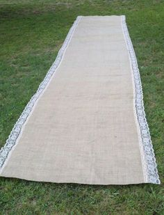 Burlap and lace aisle runner