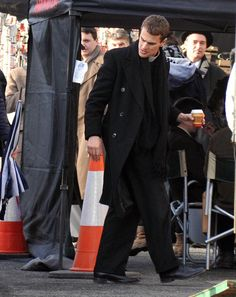 """Theo James on the set of """"The Secret Scripture"""" today The Secret Scripture, Theo James, Suits, Fictional Characters, Fashion, Moda, Fashion Styles, Suit, Fantasy Characters"""