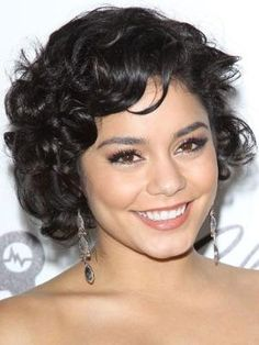 Short & Sweet ~ Styling cream helps keep Vanessa Hudgens's spirals in check. by carlani