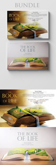 The Book of Life 6x4 Bundle by Romich The Book of Life 6x4 Bundle 2 Items Size 6x4 inch ( 0.25 inch bleed area ) / Print Ready ( CMYK, 300 dpi )Easy to edit Organised L