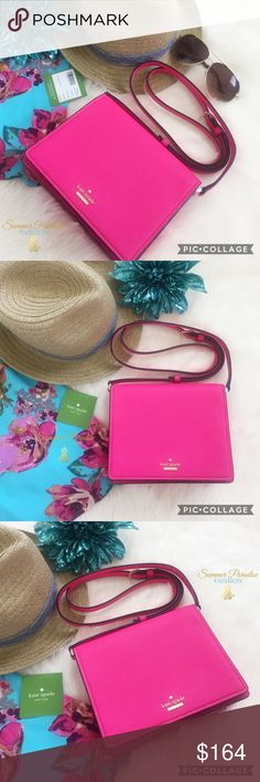 💠NWT Kate Spade Cameron Street Dody Handbag Just in time for Summer! NWT Vibrant Kate Spade Cameron Street Dody Handbag in Pink Confetti with dust bag. 14k gold plated hardware & adjustable 22 inch shoulder strap drop. 7 inches wide & 6.6 length with 2 interior pockets. kate spade Bags