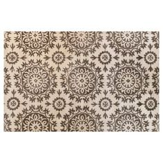 Check out this item at One Kings Lane! Starburst Rug, Ivory/Taupe