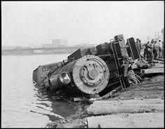 Train Wreck near Dover St. Bridge | by Boston Public Library