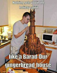 Lord of the Rings / The Hobbit Gingerbread on epic scale. Legolas, Gandalf, Little Britain, Elijah Wood, Barad Dur, One Does Not Simply, J. R. R. Tolkien, O Hobbit, Into The West