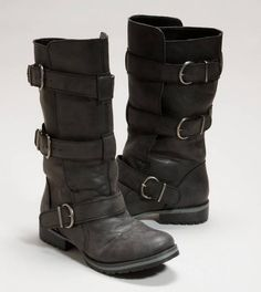 Motorcycle Boots...these are my all time favorite pair of shoes.  They go with EVERYTHING!!! jeans, tights, skirts, shorts - oh my!